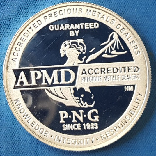 PNG AMPD silver round reverse