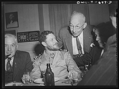 Oswego, New York, 1943: A British naval officer is entertained at the American Legion post during United Nations Week. (Library of Congress)