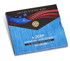 American Innovation 2019 $1 Reverse Proof Coin - Delaware
