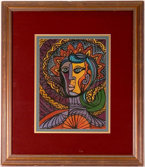 Portrait of a woman by Cuban artist Amelia Pelaez