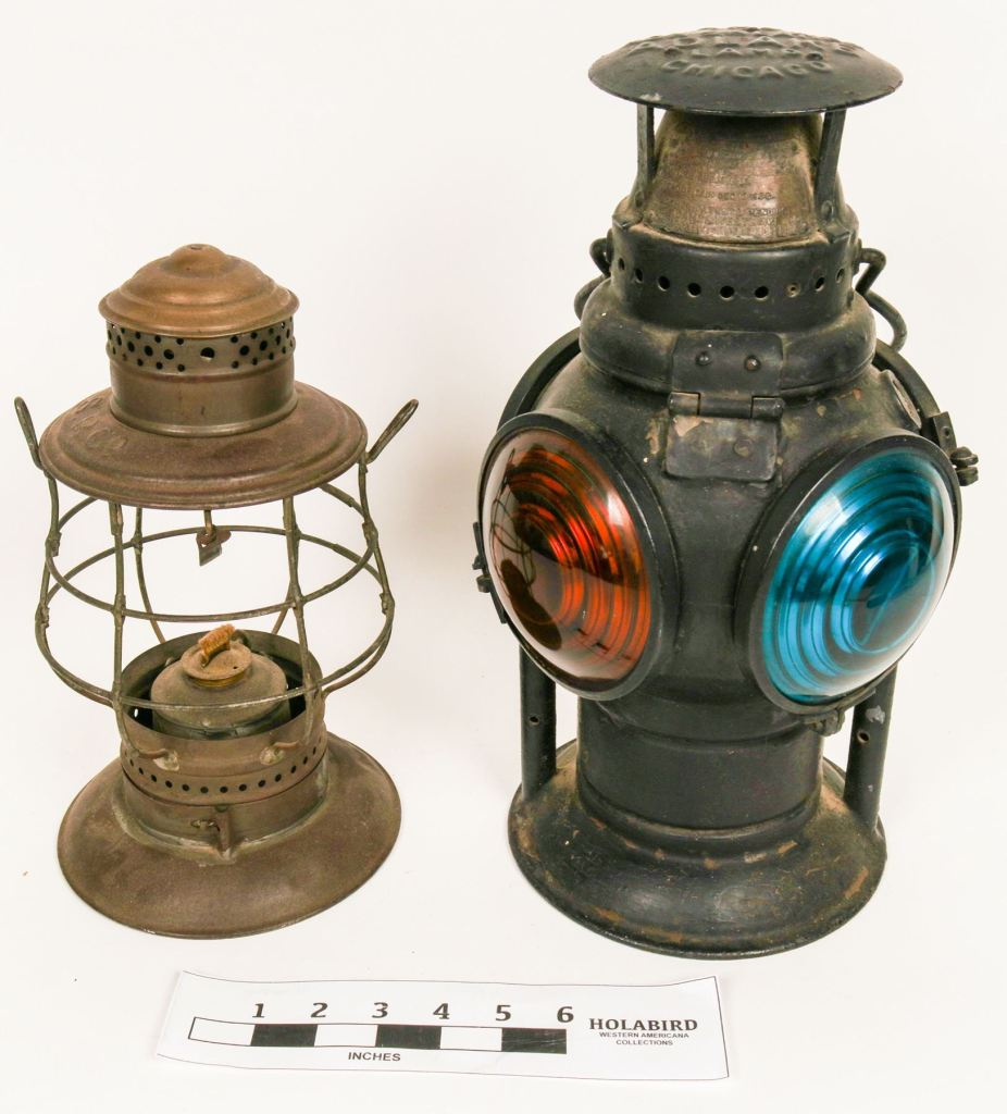 Railroad signal lamps