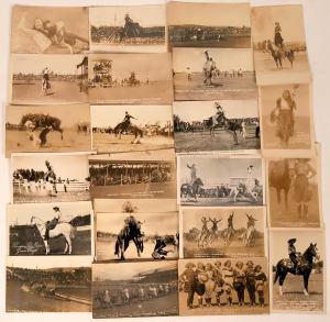 Women's cowboy postcards