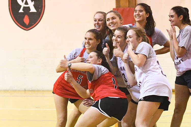 Members of the CA Girls Basketball team