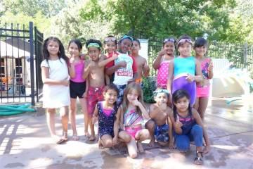 Horizons students swimming at Colorado Academy
