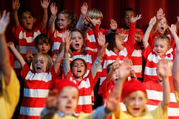 Kindergarten and First Grade Musical performance of Dr. Seuss at Colorado Academy