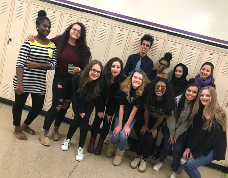 Students in the Journalism and Immigration Intensive shadowed and interviewed immigrant students at Denver South High School.