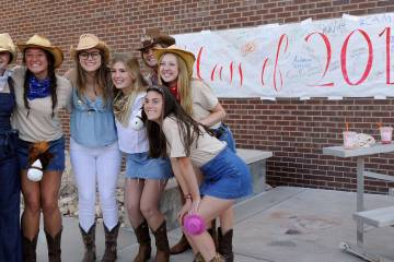 Dressed in western hats, boots and denim, CA's senior class welcomed incoming freshman to Upper School.