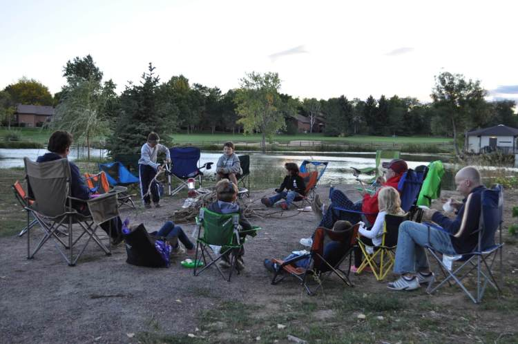 On-Campus Camping at Woody's Pond