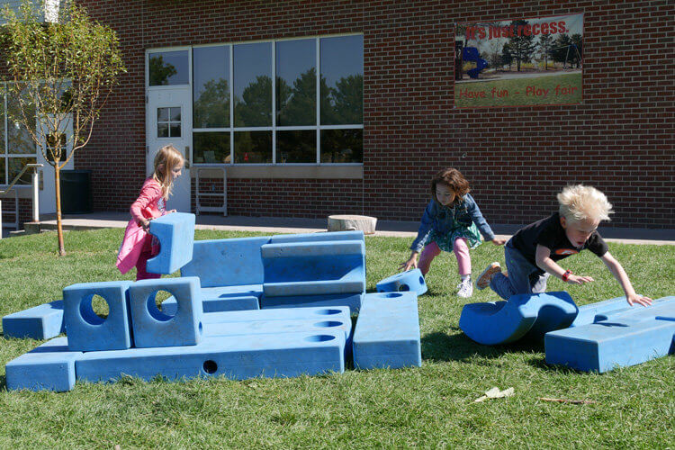 Blue Blocks at recess