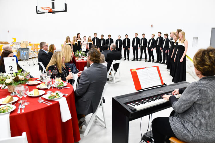 Guests were also treated to a performance by the Chamber Choir