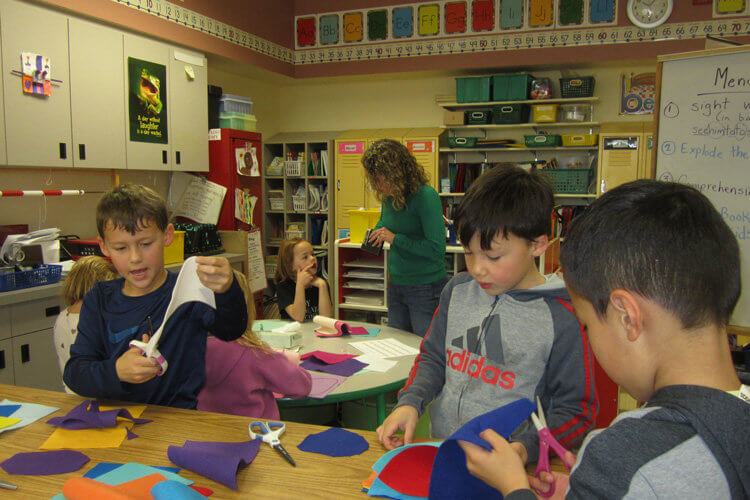 First Grade students are already working on their project for the Auction