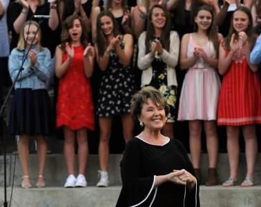 Cindy Jordan at her final choir concert.