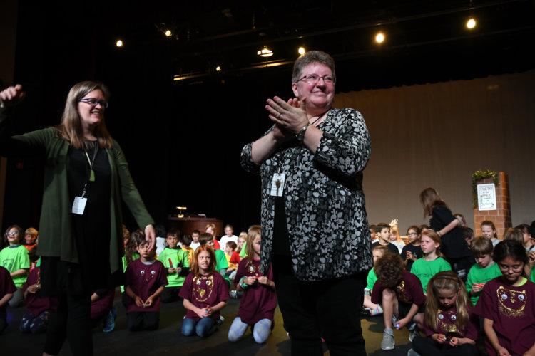 Lower School Music Specialists Nora Golden and Brenda Bartel