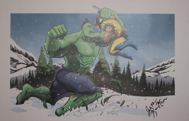Hulk Wolverine Poster