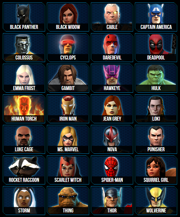 Get an Advance Pack for Marvel Heroes - ComicUI