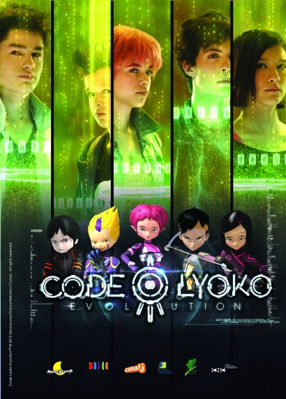 Poster promotionnel aux couleurs de Code Lyoko Evolution