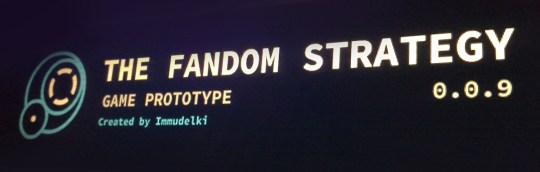 Bannère du jeu The Fandom Strategy