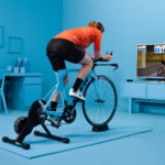 A photo of a cyclist using Zwift