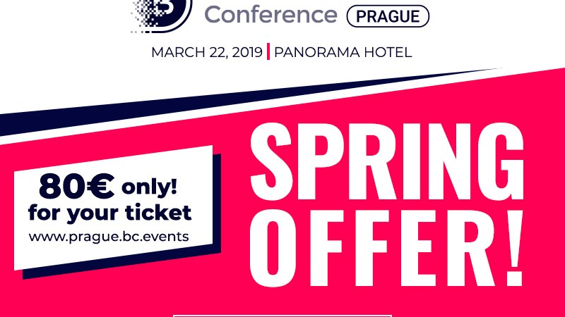 Celebrating March 8: tickets to Blockchain & Bitcoin Conference Prague at €80