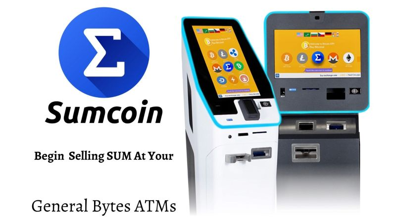 Sumcoin Allows General Bytes ATM Operators to Offer a Faster Coin with Lower Fees