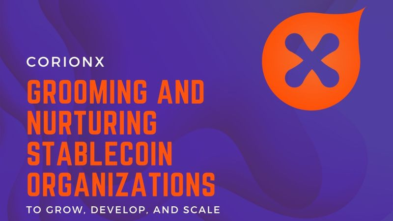 CorionX | Grooming and Nurturing Upcoming Stablecoin Organizations to Grow, Develop, and Scale