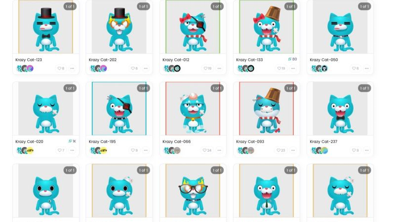 KrazyCats | 250 Cat-Based NFTs with Different Rarity Levels, are Up for Sale in Craft Market Place  on ICON Blockchain