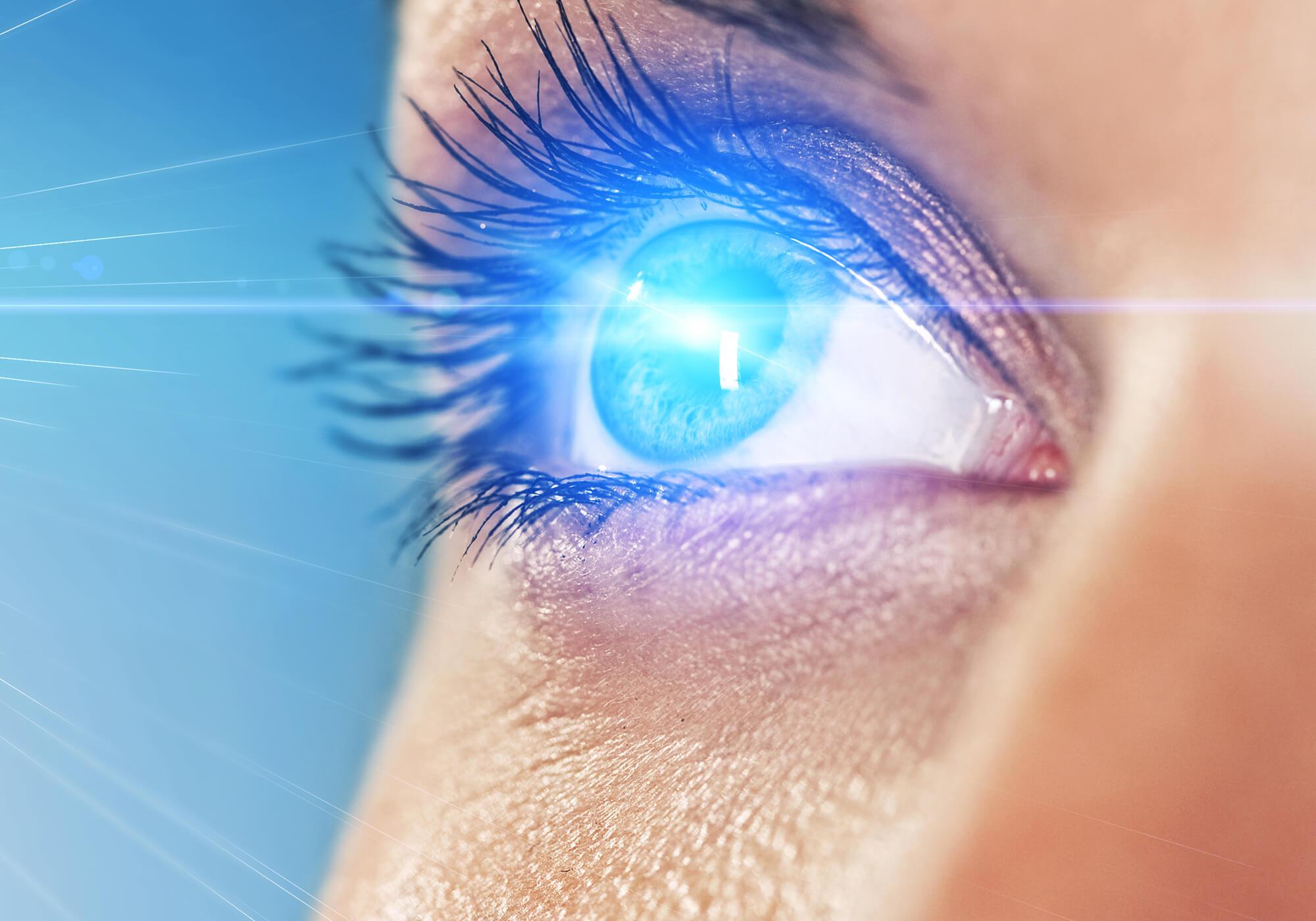 blue light on eye