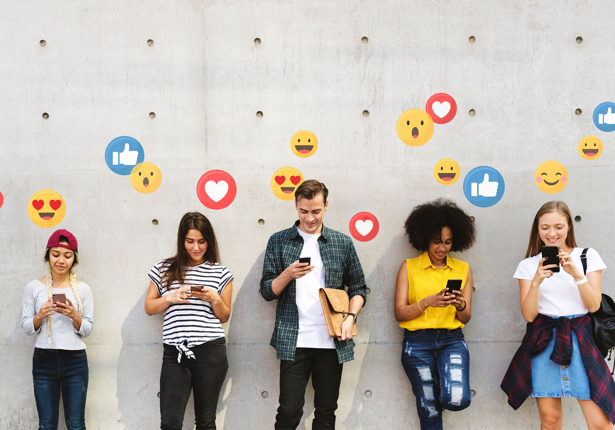 Social Media Icons and Users