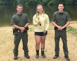 Youth Fishing Tournament Winner Elise Britton