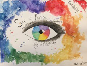 Seeing Eye rainbow colors