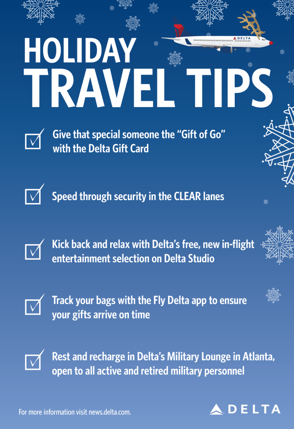 5 travel tips to keep in mind this holiday season | Delta ...