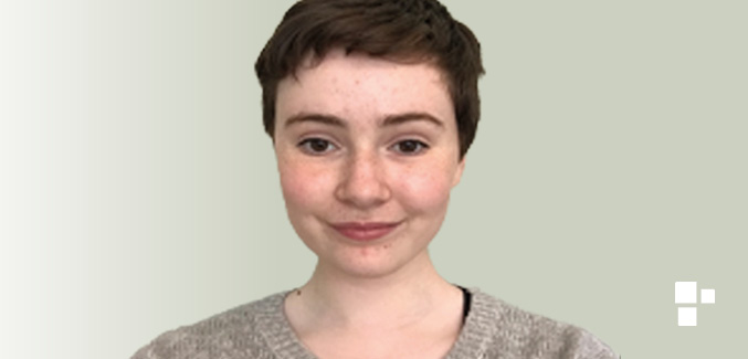 Photo of student, Katherine, who has short brown hair and brown eyes.