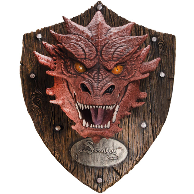The Hobbit Smaug Head Resin Mounted Trophy