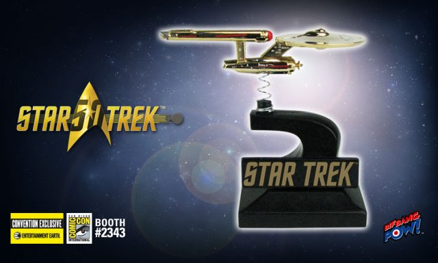 Star Trek: The Original Series Enterprise Monitor Mate Bobble Ship 24K Gold Plated - Convention Exclusive