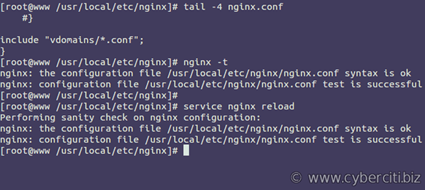 Nginx VirtualHost aka server block config
