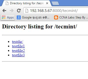 Browse Directory Files