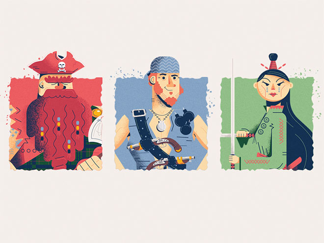 Game Characters by Nathan Walker
