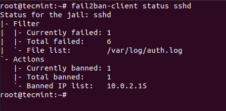 Check Fail2ban SSH Status