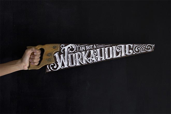 Hand Lettered Saw by Diego Carneiro