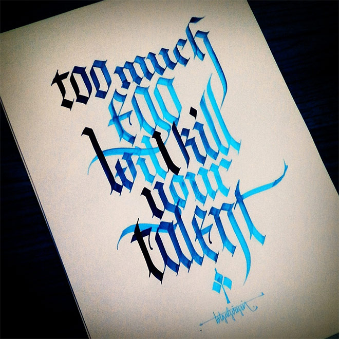 Gothic Calligraphy & Lettering by Tolga Girgin