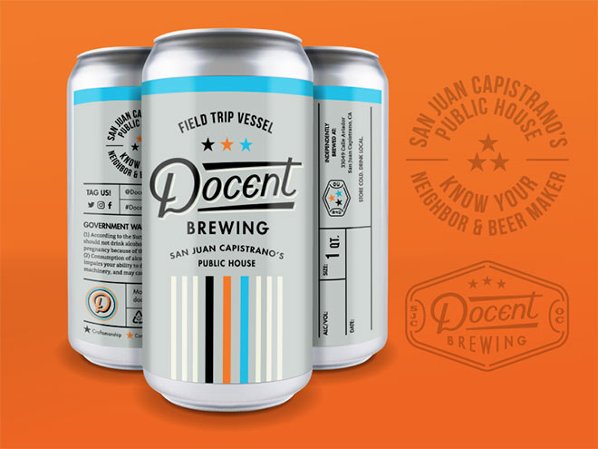 Docent Brewing Crowler Can by Amy Hood