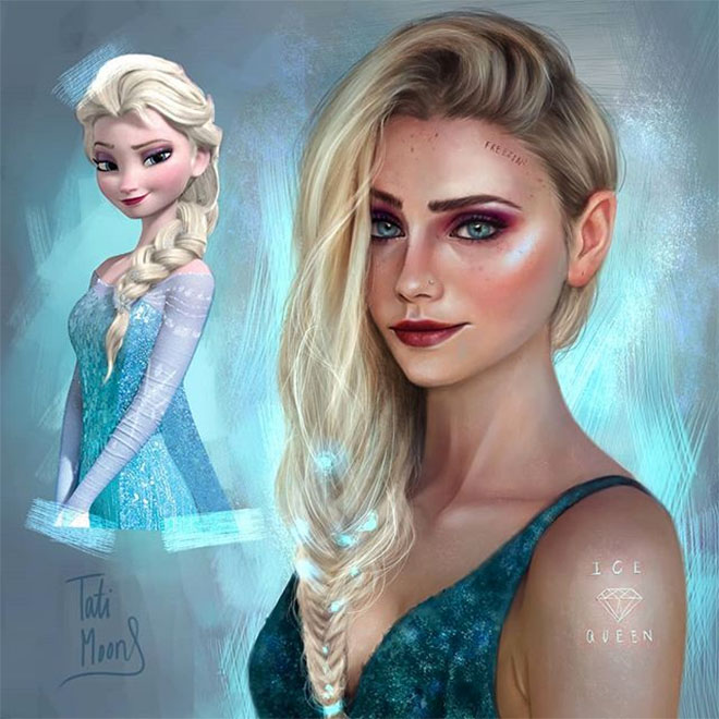 Grown Up Elsa from Frozen by Tatimoons