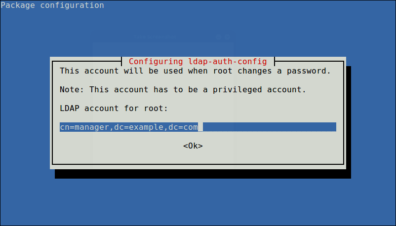 Define LDAP Account for Root