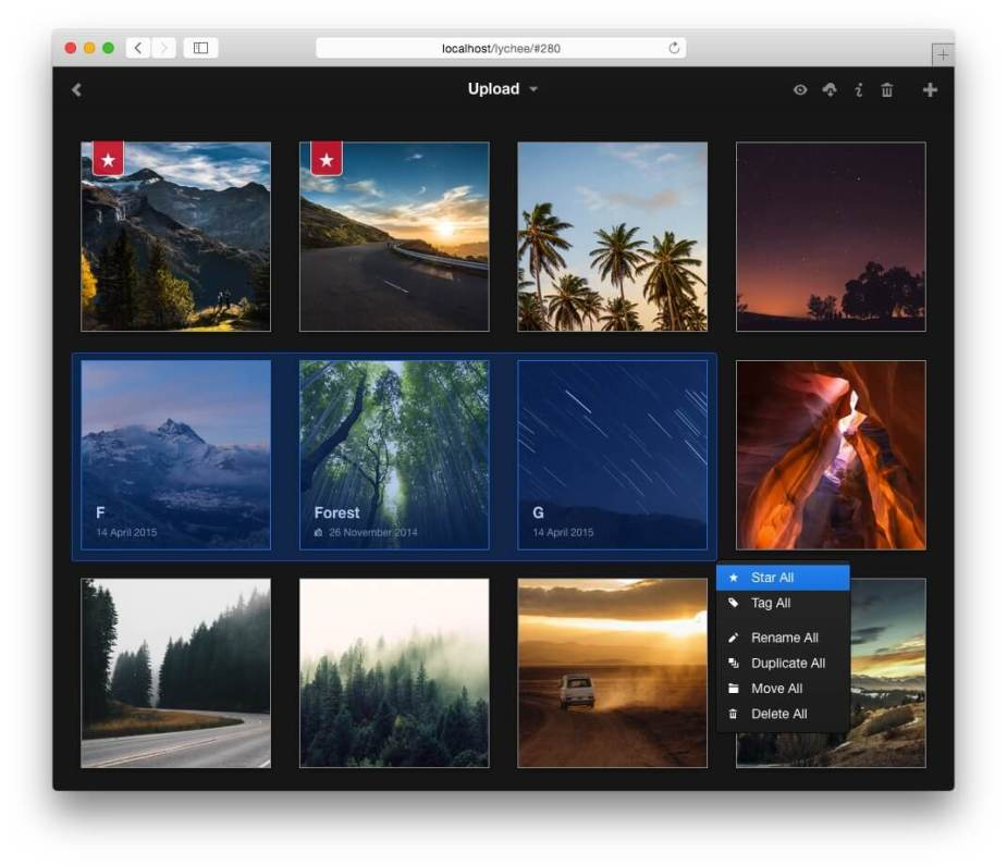 Lychee Photo Management Tool