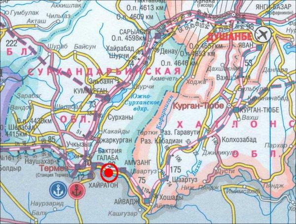 Map of blast site