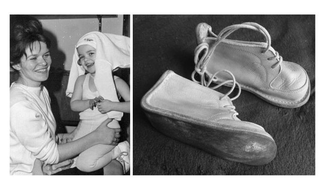 Eveline Rudolph with her daughter Annett, whose shoes Joachim finds in the tunnel.