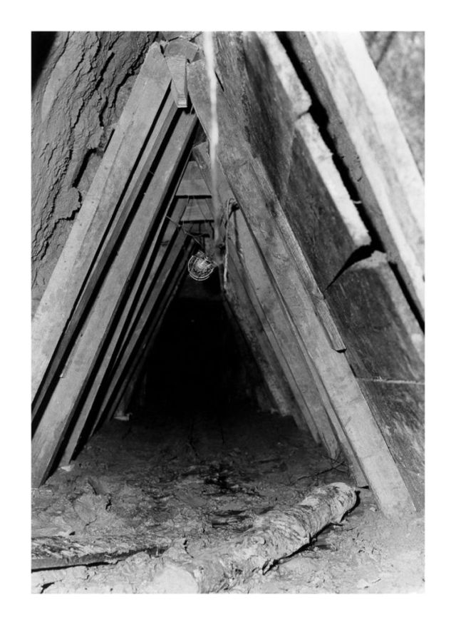 Tunnel 29, after the leak had dried out.