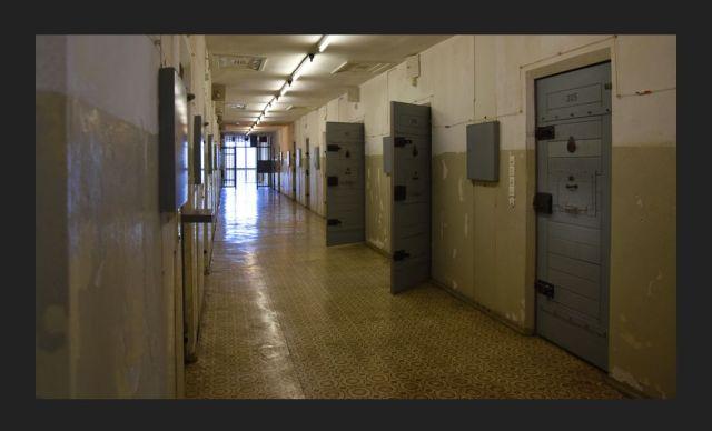Cells at Hohenschonhausen Prison, Berlin.