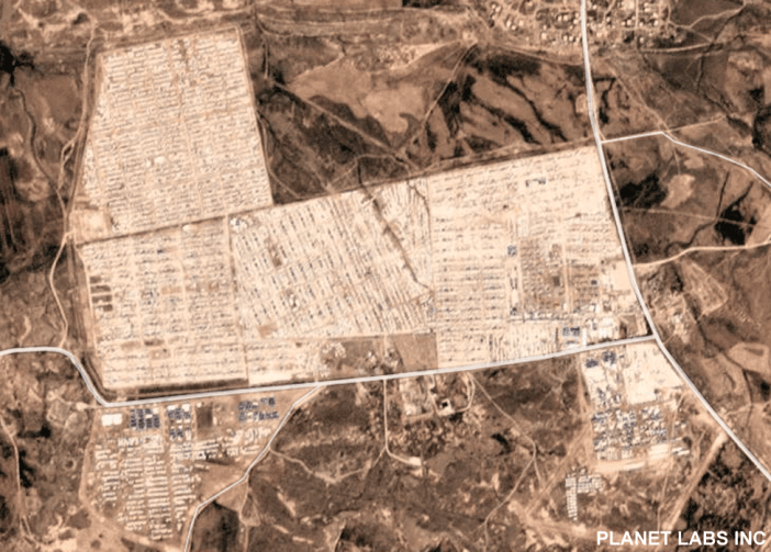 Satellite image shows the camp in March 2019