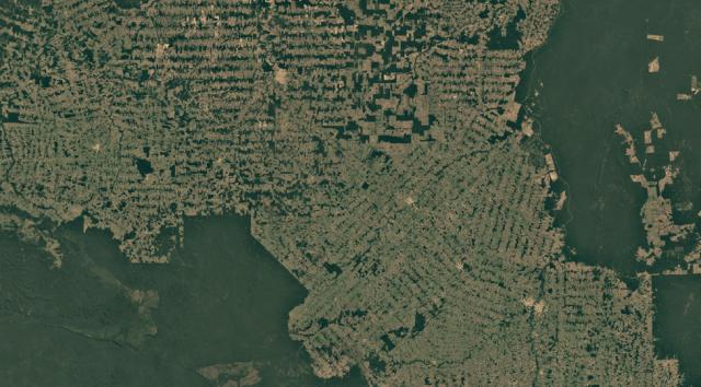 Satellite image of Rondonia, Brazil, in 2018